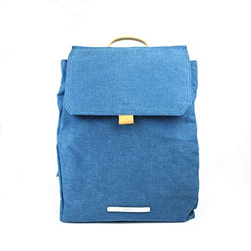 Rucksack Frauen - Business Daypack für Damen Canvas Wasserabweisend - Alltags Tasche 13 Zoll Laptop A4 - RAWROW Kleiner Backpack (Hellgrau) (Denim)