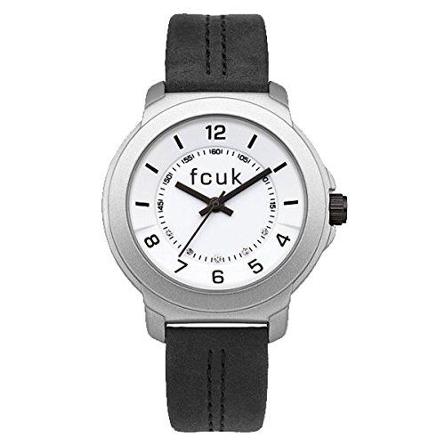 French Connection Damen Analog Quarz Uhr mit Leder Armband FC1151BS