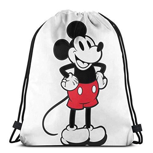 FiGPiN_90_Mouse_90TH_PIN - Bolsa de hombro clásica con cordón para gimnasio, bapa hombre y mujer