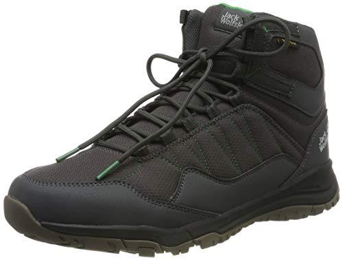 Jack Wolfskin MAZE TEXAPORE MID M Wasserdicht Trekking- & Wanderstiefel Herren, Grau (Dark Steel/Green 6057), 42 EU