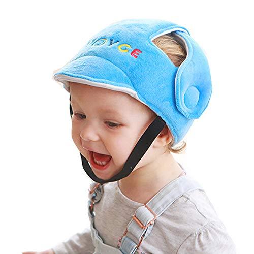 Eyand Casco de seguridad para bebés - Sombrero de casco seguridad para niños pequeños,Sombrero de seguridad protector infantil suave,Sombrero de protección para la cabeza para caminar gateando (Azul)