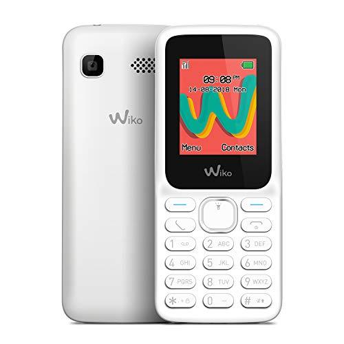 "WIKO Lubi5 Plus – Teléfono móvil Libre con Teclas de 1,8"" (Dual SIM, Radio FM, admite microSD, Bluetooth, Linterna LED y Reproductor MP3) – Color Blanco"