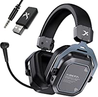 XIBERIA S11 Wireless Gaming Headset 5.8GHz Surround Sound for PC,PS5,PS4 Anti-Interference Noise Cancelling Microphone.PC...