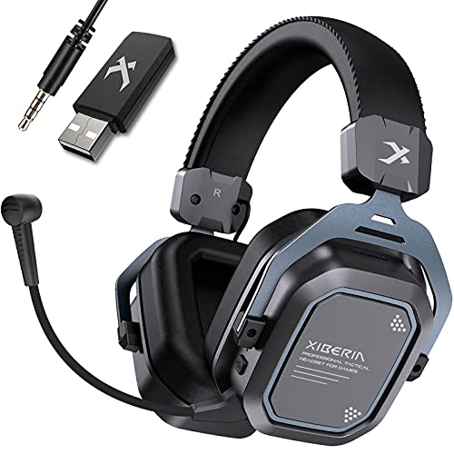 XIBERIA S11 Wireless Gaming Headset 5.8GHz Surround Sound for PC,PS5,PS4 Anti-Interference Noise Cancelling Microphone.PC Gaming Headphone,Ultra-Low Latency,Lightweight,Wired Mode for Xbox One