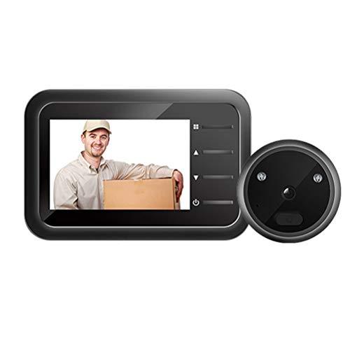 YOUCHOU Vídeo Mirilla Timbre Cámara Video-ojo Auto Record Electrónico Anillo Vista Noche Digital Puerta Visor Entrada Seguridad