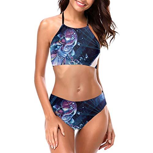 The Legen-d of Zel-da Laides Neckholder-Bikini-Set, schnelltrocknend, Bademode, zweiteilig, Strandmode, rückenfrei Gr. L, The Leg-en-d of Z-elda M-ipha