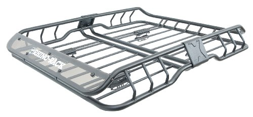 Rhino Rack Roof Cargo Basket with Mounting Bracket for Roof Racks, Easy Use & Fitment, Heavy Duty, 2 Thru Axle Bike Carriers; for All Vehicles; 4WD, Pick Up Trucks, SUV's, Wagon's, Sedan's; Locking