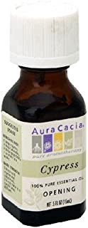 Aura Cacia Pure Aromatherapy 100% Pure Essential Oil, Cypress, Opening, 0.5-Ounces (Pack of 2)