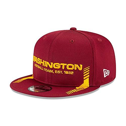 New Era NFL Washington Official 2021 Sideline 9FIFTY - Cappellino con visiera, motivo: casa, Team, Medium-Large