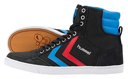 Hummel Unisex-Erwachsene Hummel Slimmer Stadil High-Top, Schwarz (Black/Blue/Red/Gum), 41 EU