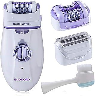 Epilator for Women, 2 in 1 Hair Removal Epilator with Epilator Head & Shaver Head, Electric Cordless Hair Shaver Portable ...