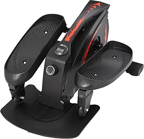 XWZ Ejercitador De Pedal Motorizado, Monitor De Bicicleta Elíptica Manual Pedales Antideslizantes Resistencia Ajustable Entrenador De Ejercicio Compacto Entrenamiento Físico
