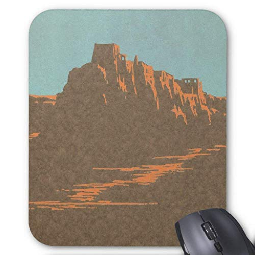 Drempad Gaming Mauspads Custom, Vintage Travel Poster, Taos, New Mexico Mouse Pad 11.8