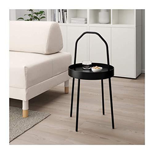 IKEA Burvik stolik pomocniczy czarny 703.403.84 rozmiar 38 cm