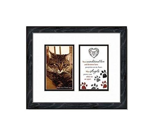 Gifts Of Faith Schutzengel-Gedicht für Katze, Kätzchen, Pfotenabdrücke und Bilderrahmen mit Anhänger