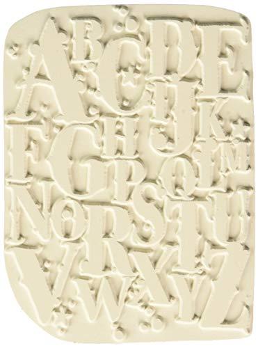 Carabelle Studio Sello de Goma con Textura en Forma Rectangular Art Printing,la a a la z, para Placas de Gel monoprint