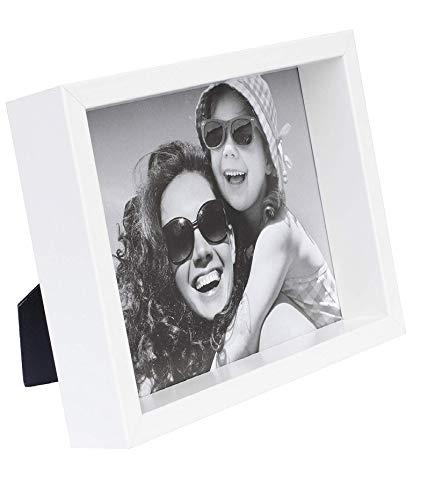 BD ART 20 x 25 cm Box Bilderrahmen, Weiß