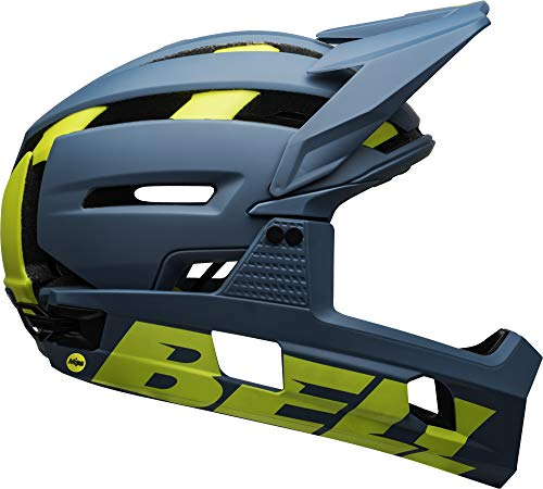 BELL Super Air R MIPS Adult Mountain Bike Helmet - Matte/Gloss Blue/Hi-Viz (2021), Medium (55-59 cm)