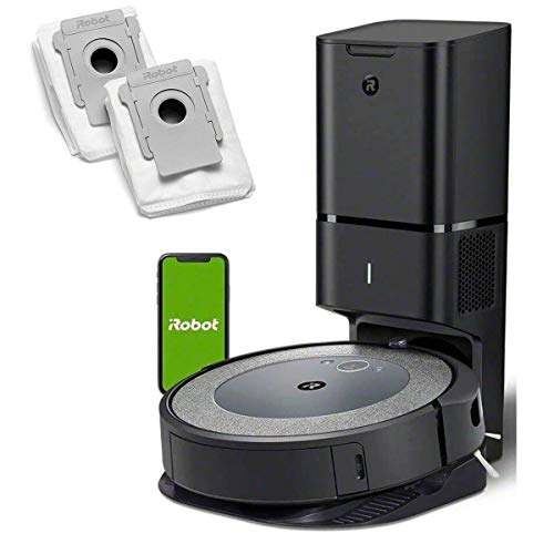 iRobot Roomba i3+ (3550) Robot Vacuum with Automatic Dirt Disposal Disposal - Empties Itself, Wi-Fi Connected Mapping, Compatible with Alexa, Ideal for Pet Hair, Carpets (+2 Dirt Disposal Bags)