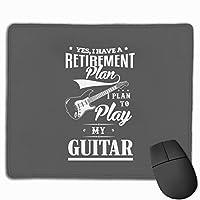 はい、私は私のギターを弾くことを計画している退職計画を持っています マウスパッド 25×30 大判 ノンスリップ 防水 ゲーミング おしゃれ マウスの精密度を上がる