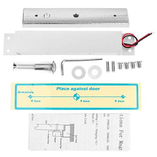 Kit de cerradura magnética eléctrica de puerta incorporada DC12V 280kg para herramientas de hardware de seguridad para el hogar, cerradura de puerta cerradura magnética cerradura electromagnét