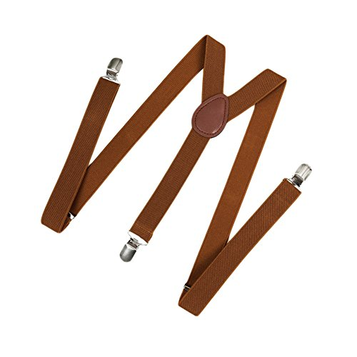 Romacci Herren Damen Y-Form Hosen Hosenträger Gürtel-Bandage Elastisch, Brown2, Standard