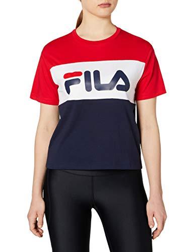 Fila Classic Pure Tee SS - Camiseta Black Iris/True Red/Briwhi XS