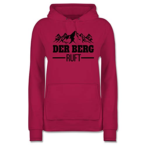Après Ski - Der Berg Ruft - schwarz - S - Fuchsia - der Berg Ruft Hoodie, Damen - JH001F - Damen Hoodie und Kapuzenpullover für Frauen