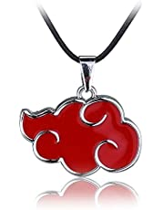 MINGZUO Collar de Lackingone con Colgante Naruto Akatsuki Cosplay Red Cloud