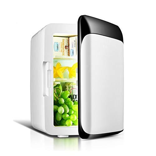 XTZJ Mini refrigerador, 8 litros refrigerante y más cálido refrigerador compacto con energía AC / CC, nevera portátil grande para cuidado de la piel, alimentos, medicamentos, leche materna, hogar y vi