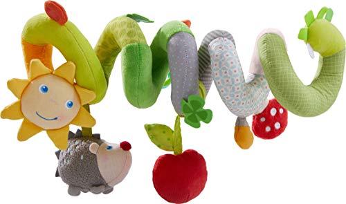HABA 305131 - Mobile-Spirale Glück, Babyspielzeug für Babyschale, Gitterbett und Buggy, mit vielen Spielfiguren und akustischen Effekten, ideal als Geschenk zur Geburt und Taufe