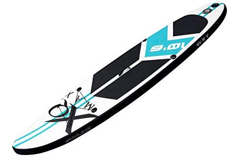 Tavola professionale per touring, per alte velocità, SUP di XQ Max – 320 cm – Set completo con pompa, strumento per patchwork, cordino, pagaia regolabile – blu