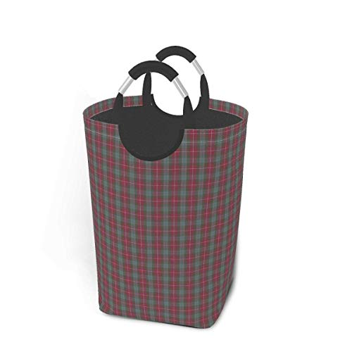 Fraser - Cesta de almacenamiento para ropa sucia, diseño de tartán rojo, grande, plegable, para guardar ropa sucia, juguetes, libros