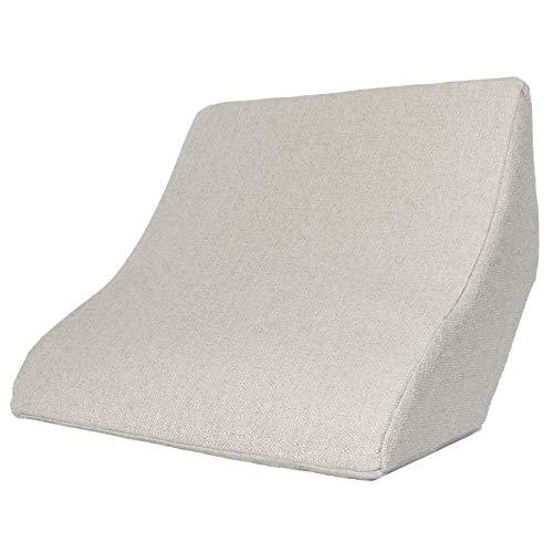 Cojín de lectura y apoyo lumbar para una posición óptima al sentarse. Cojín cuña, cojín de espalda para leer, ver la televisión, jugar y relajarse, para cama, sofá y sofá (beige, 52 x 50 x 21 cm)