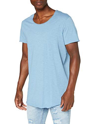 JACK & JONES Herren Jjebas Tee U-neck Noos T Shirt, Blue Heaven, M EU
