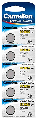 Camelion 13005632 Lithium Knopfzelle, CR1632, 5er-Pack