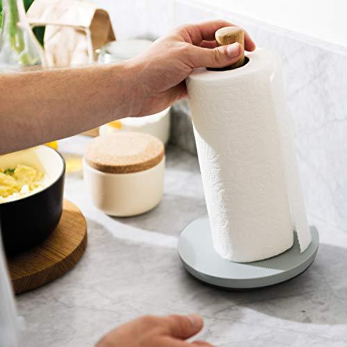 Berghoff Leo in Legno di Quercia Tavolo Porta Asciugamani da Cucina, Grigio Chiaro