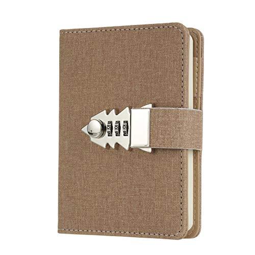 Tagebuch mit Schloss Notizbuch Schreiben für Männer,Frauen,Mädchen,Jungen A7 Mini Notizbuch