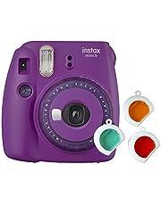 Fujifilm Instax Mini 9 Purple with Clear Accents Instant Film Camera