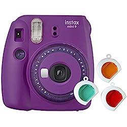 Fujifilm Instax Mini 9 - Cámara instantanea, Morado + Pack de 10 películas: Amazon.es: Electrónica
