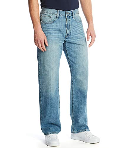 Nautica Traditional Collection's Men's Relaxed Fit Jean Pant, Hook Line Blue, 32Wx32L
