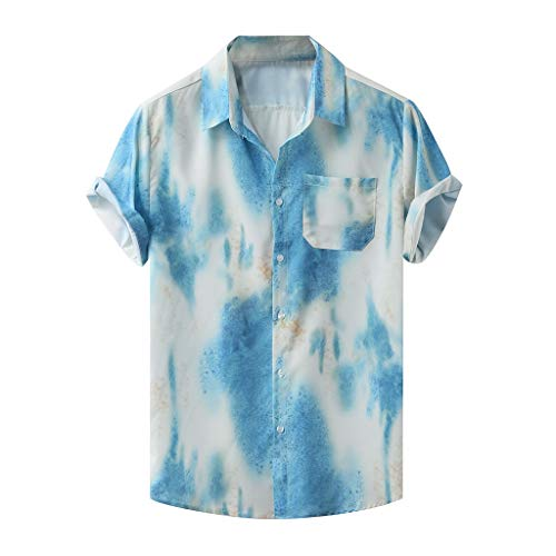 Generic Mens Slim Lightweight Short Sleeve Lapel Big-Tall Stripe T-Shirt