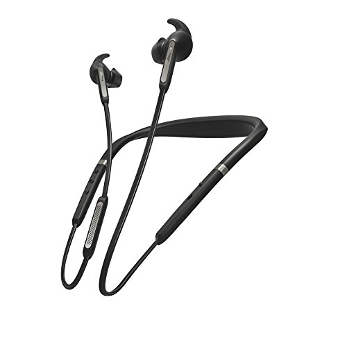 Jabra Elite 65e Alexa Built-In Wireless Stereo Neckband with In-Ear Noise Cancellation – Titanium Black