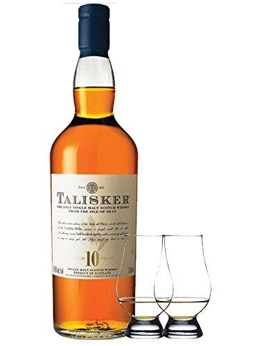 Talisker 10 Jahre Isle of Skye Single Malt Whisky 0,7 Liter + 2 Glencairn Gläser