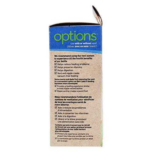 Dr. Brown's Options Cristal - Biberón de boca ancha,...
