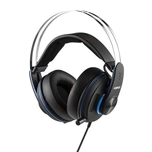Konix PS-600 – Gaming Headset PS4, kompatibel mit PC, Xbox – Hohe Qualität und Geräuschunterdrückung – Gaming-Kopfhörer PS4 Jack – Ohrpolster und Bügel für optimalen Komfort – Teleskop Kopfhörer