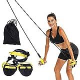 KAKAF Entrenador de cuerda de tracción para entrenamiento de natación con palas de mano para entrenamiento de brazos, entrenamiento de fuerza, entrenamiento de natación, con palas para brazos