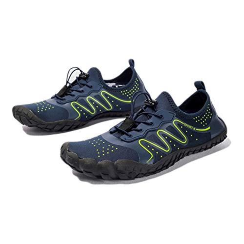 WXYPP Barefoot Plus Tamaño Zapatos de Agua Secado rápido de los Hombres Zapatos de natación de Secado rápido de Buceo Zapatos de Secado rápido Calcetines De Agua (Color : Green, Size : 43EU)