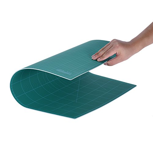 KKmoon A2 Tappetini Per Taglio - Double-Sided Cutting Mat Materiale Resistente PVC (60cm×45cm) ,Colore Verde