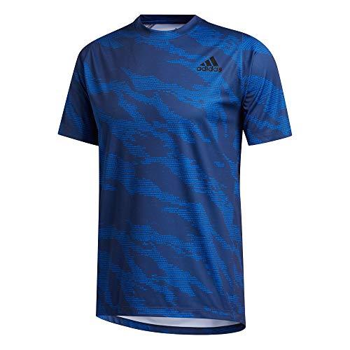 adidas FL Camo tee Camiseta, Hombre, Azuglo, XS